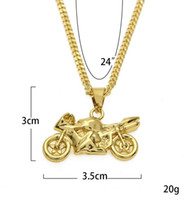 Hip- hop new cool motorcycle small pendant hip- hop necklace