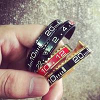 Italien Titan Stahl Brazaletes Pulseras Weinlese überzog Armband-Armband für Männer Edelstahl-Stulpe-Tachometer-Armband