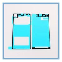 5 Takım = 10 adet Yeni Yedek LCD Ön Çerçeve Konut + Arka Pil Kapı Kapak Sony Xperia Z1 L39h Için Yapıştırıcı Tutkal Etiket Ücretsiz Kargo