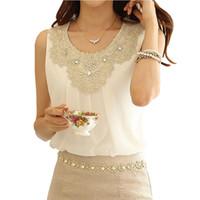 Blusas Feminina Beyaz Gömlek kadın Tankları 2017 Vetement Femme Artı Boyutu Şifon Bluz Yaz Üstleri Camisetas Mujer Blusa