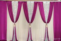 スパッサンの盗品の3m * 6mの背景の結婚式のバッククロスとスワッグパーティーのカーテン結婚式パーティーステージのお祝い背景の卒業ステージ