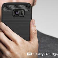 Funda de teléfono original para galaxy S10 S9 S8 S8 Plus Note 9 8 j8 j7 j3 2018 de fibra de carbono cepillada TPU trasera cubierta de diseño delgado cáscara de menta