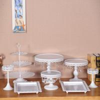 8pcs blanc fer cany cookie affichage plateau table mariage fête décoration fournisseur de cuisson outils de gâteau de pâtisserie