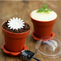 4 Colors Upick- - 20pcs lot Creative flower pot cake cups and ...