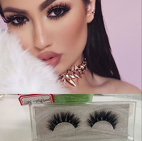 Natural False Curling Thick Eyelashes Fake Beauty 3D Mink La...