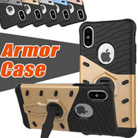 360 Degree Rotary Armor Gear Case TPU+ PC Hybrid Cases Shockp...