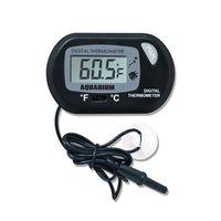 Mini-Digital-Fisch-Aquarium Thermometer Behälter mit Wired Sensor inklusive Batterie im opp Beutel-Schwarz-Gelb Farbe für Wahl Schnellen Versand