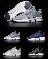 High quality EQT Support ADV Boost Mens Running Shoes Black ...