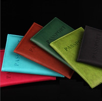 10 Colors Passport Holder Immitation PU Leather Women Men Tr...