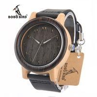 بوبو الطيور N16 جديد الساعات الخشبية erkek ساتلر الأعلى مارا الفاخرة عارضة ساعة اليد للرجال يمكن دروبشيبينغ