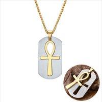 Ankh Removible Cross CollacePendants Egiziani Gioielli da uomo Il simbolo della vita croce gioielli PN-623