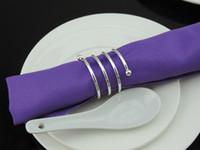 20 pcs banhado a prata anel de guardanapo de anular de Metal guardanapo fivela titular hotel festa de casamento favor decoração
