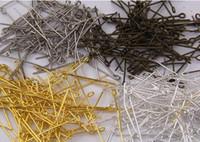 Eyepin Entdeckung-neues Arriva100pcs / lot Gold überzogene Eisen-Augen-Kopf-Stifte passen die Schmucksachen, die 26mm Großhandelssilber-Bronzeknickelfarbe machen