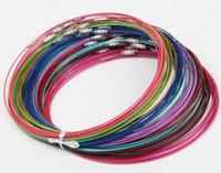 """200 pz / lotto multi colore in acciaio inox filo di cavo collane nuove catene gioielli 18 """"L gioielli fai da te"""
