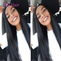 Indiana da Malásia brasileira peruana Virgin Cabelo frente Hetero Lace Wigs com bebê Glueless cabelo perucas completas do laço Natural Color Lace Wigs