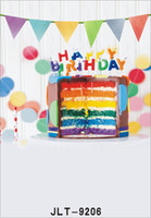 colored birthday cake banner party photography background fo...