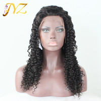 Full Lace Wig 130% Density Curly Human Hair Wig Free Part Hu...