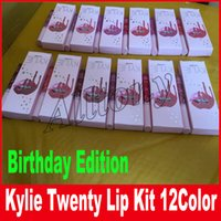 New Kylie Birthday Edition Gloss Lipstick Kylie lip Kit Lipliner lipgloss жидкая маска для губной помады 12 цветов 20 доставка по DHL