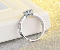 2017 новый США GIA сертификат SONA diamond 0.6 Ct CZ Diamant обручальные кольца для женщин регулируемый размер