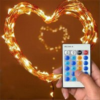 Edison2011 10m 33ft 100 LED Luces de hadas LED CAMBIERTE DE COBRE LIGHT STRIGHT Navidad + Control remoto + Adaptador de corriente