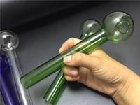 Tubo di fumo di vetro del tubo del bruciatore di olio di 20cm Tubo di galss Tubo di vetro spesso Tubo colorato di olio Trasporto libero
