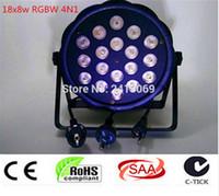 Nuevo 2017 18x8 W RGBW 4in1 RGBW 4IN1 de RGBW LED Flat Par mezcla de colores LED DJ Luz de la Colada Etapa Uplighting KTV Del Disco de DJ DMX512