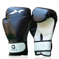 قفازات MMA الملاكمة PU جلدية كاملة قفازات القفاز الملاكمة التايلاندية التدريب قفاز الملاكمة