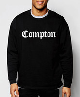 Wholesale-fashion mens sweatshirts Compton 2016 new autumn winter hoodies hip hop streetwear loose cotton crop top  clothing