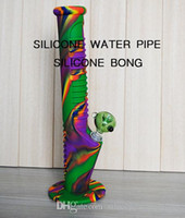Silicone water pipe 14 inch Rainbow 2017 Colorful New arrive...
