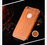 Estuche rígido vendedor caliente de Bling 3 piezas de madera de madera de la PC para Iphone 7 7Plus 3 en 1 Electroplate Metallic Chrome Hybrid Skin Cover Shell Phone