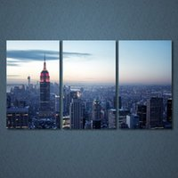 3 Panels Canvas Art Cityscape Buildings Home Decoration Wall...
