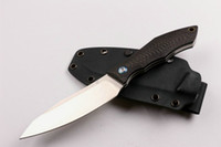 New Russia Bear D2 Fixed Blade Knife Carbon Fiber Handle 60H...