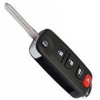 100% pieghevole pieghevole Flip Remote Fob Key Shell Case per INFINITI G35 I35 350Z Nissan Sentra Altima Maxima 2002-2006 Spedizione gratuita