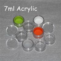 stampa personalizzata contenitore di plastica con silicone fodera 3ml 5ml 6ml 7ml 10ml vaso acrilica per cera dab bho, acrilici liberi contenitori cera