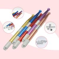 Сплав Профессиональный Перманентный Ручной Макияж Ручка 3D Вышивка Бровей Ручной Татуировки MicroBlading Pen Бесплатная Доставка ZA3386