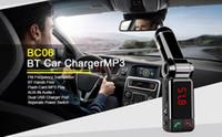 Chargeur de voiture Bluetooth 100x BC06 Transmetteur FM Carte Flash mains libres MP3 Play Dual USB Port du chargeur LED Affichage numérique Ligne AUX Entrée audio