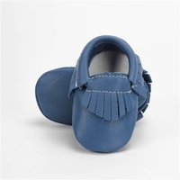 1 Pair Send Brand Genuine Leather Baby Moccasins Newborn Boy...