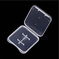 MICRO SD MMC TF بطاقة واضحة حزمة مربع حالة من البلاستيك مع نوعية جيدة الساخنة