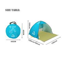 nueva tienda de playa pop-up abierta 1-2person rápida automática abierta 90% de protección UV-sunshelter tienda de toldo para pesca en camping
