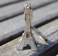 الأزياء الكلاسيكية الفرنسية فرنسا تذكارية باريس 3d برج ايفل نموذج المفاتيح الرجعية مصغرة المعادن باريس كيرينغ مفتاح سلسلة حلقة هدية ZA1458