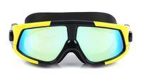 نظارات السباحة سيليكون مريحة كبيرة لمكافحة تعفير الأشعة فوق البنفسجية نظارات السباحة الغوص مع قناع السباحة الإطار الكبير للماء