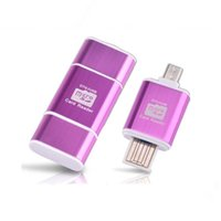 2 в 1 OTG Card reader USB мужчина к Micro USB OTG адаптер с TF / SD Card Reader для Samsung huawei xiaomi PC
