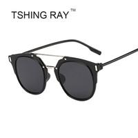 الجملة الأزياء وفيوزات نظارات شمسية نسائية سوبر ستار ملابس شقة نظارات شمسية UV 400 الحماية رخيصة نظارات
