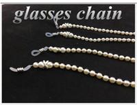 Buena calidad antideslizante Cadena Mujeres Gafas gafas cadenas COPIA perla de la manera gafas de sol Chicas Cadenas vasos Cordones