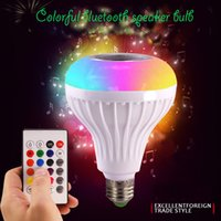 13 colors support no need app colorful wireless speaker bulb...