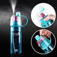 Sport-Spray-Wasser-Flasche Doppelt verwendbare Bpa-freie Plastikflaschen für Wasser-Mode-Raum-Schalen 0.6L / 0.4L