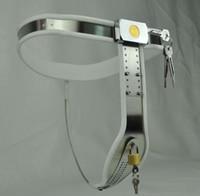 Más reciente Mujer Modelo-T Curve Waist Dispositivo de cinturón de castidad de alambre de acero inoxidable totalmente ajustable con prevenir la masturbación escudo bdsm juguete sexual