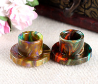 Hottest Epoxy Resin drip tip Colorful Resin Wide Bore drip t...