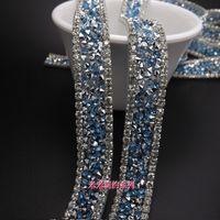 Nuovi prodotti 1,5 cm cristallo trasparente strass trim applique da sposa pizzo trim cantiere