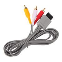 500 adetgrup 1.8 m Ses Video AV Kompozit 3 RCA Kablosu Wii kabloları için